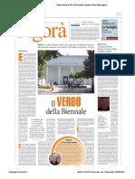 Avvenire Nazionale Xfiction Di Raul Gabriel a Piazza Della Loggia Brescia di Alessandro Beltrami Pasqua 2015