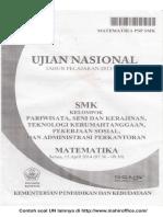 Contoh Soal UN Matematika SMK Kelompok Pariwisata, Seni Dan Kerajinan, Teknologi Kerumahtanggaan, Pekerjaan Sosial Dan Administrasi Perkantoran