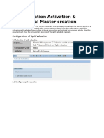 Split Valuation Activation & Its Material Master Creation