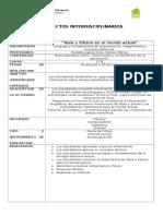 Formato proyectos interdisciplinarios
