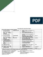Income Declaration Form 2015 16