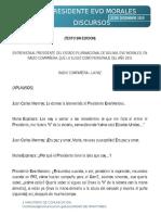 Entrevista de Mario Espinoza a Evo Morales