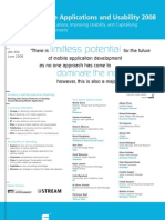 Evolving Mobile Applications & Usability 2008