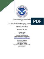TSA Privacy Impact Assessment Update