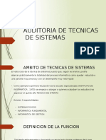 auditoria tecnicas