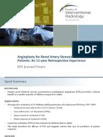 Angioplasty for RAS Journal Primer