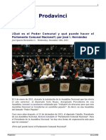 José I. Hernández - Sobre El Parlamento Comunal