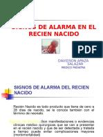 Signos de Alarma en El Recien Nacido.