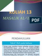 14 Masalik Al-'Illah (Part 1)