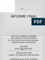 In forme Final Practica Docent e