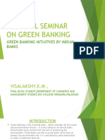 Green Banking initiatives by Indian banKS