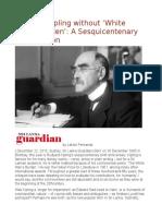 Rudyard Kipling Without 'White Man's Burden' a Sesquicentenary Appreciation