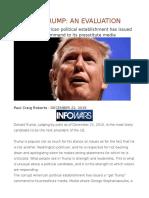 Donald Trump an Evaluation