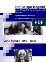 Jean Peaget dan Lev Vigotsky