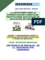 DIVERSIFICACION Y PROGRAMACION CURRICULAR-HUGO BAUTISTA SUBDIRECTOR DE I.E Nº 109 INCA MANCO CAPAC UGEL - 05 -SJL