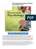 Personality Psychology Domains Knowledge Nature