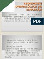 Abordagem Fenomenológica Da Educação1