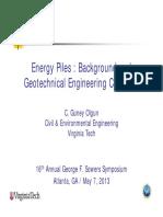 Energy Piles