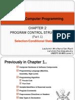 2. Program Control Structures_Part 1