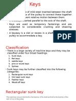 Classifications of Keys