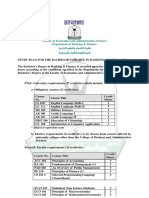 خطة بكالوريوس انجليزي العلوم المالية والمصرفية