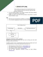 Basics of Pl-SQL