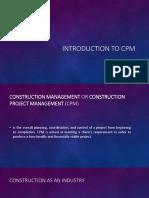 Construction Project Management - Chapter 1