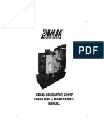 DIESEL GENERATOR GROUP  OPERATING & MAINTENANCE  MANUAL