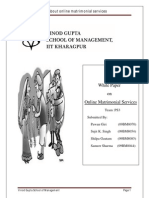 Group 12 _White Paper_Online Matrimonial Services