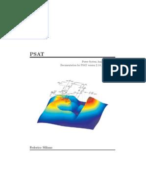 PSAT Documentation 2011   Matlab   Electric Power Transmission