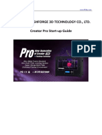 Flashforge Creator Pro en Version02.09.2015.3.1