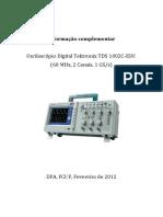 Informação Sobre Manuseamento de Oscilocópicos