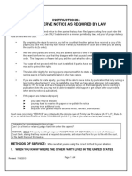 Notice by Law