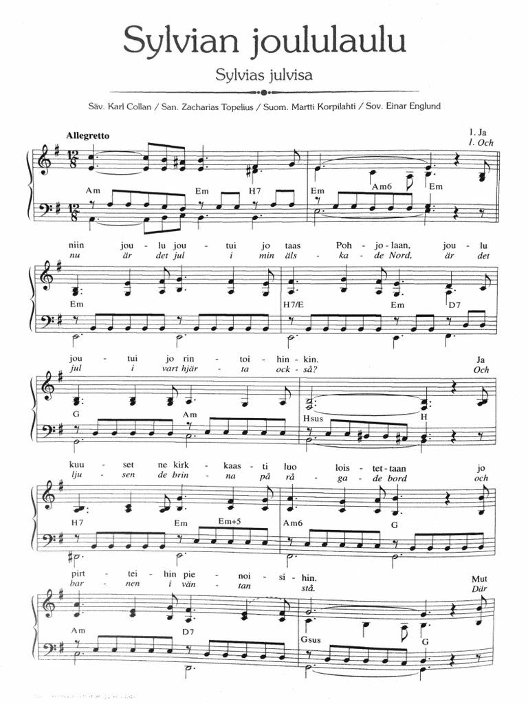 Sylvian Joululaulu Lyrics
