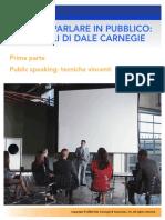 'ARTE DI PARLARE IN PUBBLICO