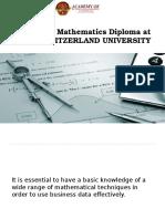 Business Mathematics Diploma at Abms Switzerland University