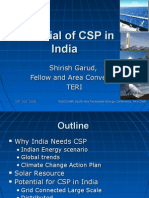 Mr Shirish Garud Potential of CSP in India