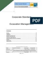 Excavation Management Corporate Standard
