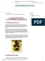 Institucion Educativa 40285_ Tradiciones y Costumbres de Arequipa