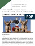 La Simbología Totemica Del Torito de Pucara _ Colegio Profesional de Antropólogos Del Perú