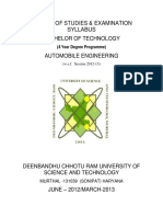Revised B.tech Automobile Engg 2013 14