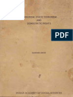 Terrorism, State Terrorism and Democratic Rights - Randhir Singh