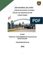 TECNICAS Y PROCEDIMIENTOS DE INVESTIGACION CRIMINAL 2014