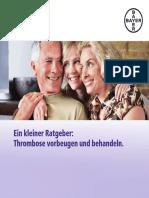 Patientenratgeber Thrombose Deutsch