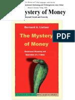 Bernard Lietaer - The Mystery of Money, 287pp full pdf download