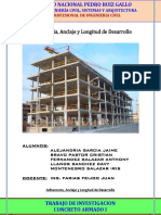 Adherencia y Anclaje y Longitud de Desarrollo
