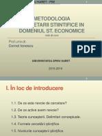 3. Metodologhia Cercetarii Stiintifice in Domeniul St.economice