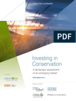 InvestingInConservation Ex Summary