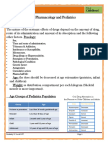 Pharmacology and Pediatrics