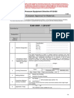 Formato Para European Approval for Materials - English
